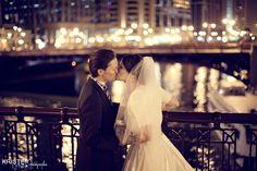 Downtown Chicago Wedding. LOVE CHICAGO. LOVE LIGHTS.