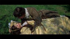 Anne Boleyn and Percy. Pretty yellow dress.