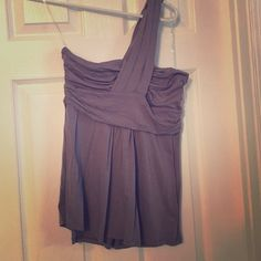 New Ella Moss strapless shirt Grey/purple New with tags Ella Moss tube with shoulder strap Ella Moss Tops Crop Tops