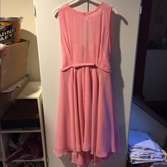 Beautiful pink dress must go  Pink prom/formal or bridesmaid dress size 8 been worn once in amazing condition make an offer  has had alterations in the shoulders but nowhere else fits more like a 5/6 Dresses