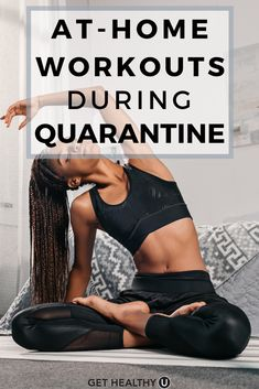 Stuck at home? Get your sweat on with these at-home workouts you can do while quarantined during the Coronavirus outbreak. Relieve stress and sweat it out! Mini Workouts, Killer Workouts, Easy Workouts, At Home Workouts, Core Workouts, Exercise Routines, Strength Training For Beginners, Workout For Beginners, Workout Schedule