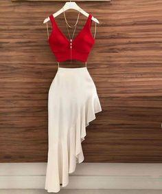 Two Piece Chic Prom Dress – classygown Teen Fashion Outfits, Look Fashion, Girl Fashion, Fashion Dresses, Classy Fashion, Sexy Dresses, Fashion Fashion, Korean Fashion, Fashion Women