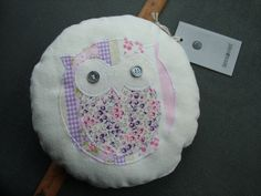 Little Pink Owl Cushion by tessaaviet on Etsy, $17.50