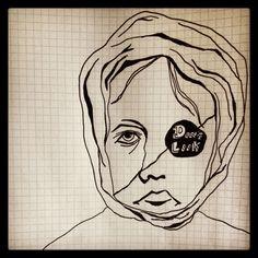 Tegning af en gammel/ung pige
