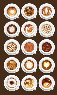 Coffee and latte art - gorgeous!
