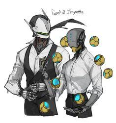 I just want to see zenyatta suit fit..! + genji (My favorit character is zenyatta x>)- Overwatch