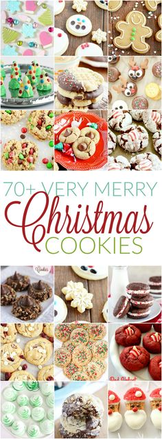 70 Christmas Cookies > HOME RECIPES . 70 Christmas Cookies More than 70 cute ideas for Christmas treats including reindeer cupcakes snowman marshmallow hats and Rudolph donuts! full recipes >>> HERE Easy Christmas Treats, Christmas Cookie Exchange, Christmas Sweets, Christmas Cooking, Noel Christmas, Christmas Goodies, Holiday Treats, Christmas Candy, Holiday Cookie Exchange Recipe