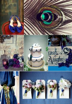 navy plus jewel tones wedding colors inspiration fall winter wedding ...