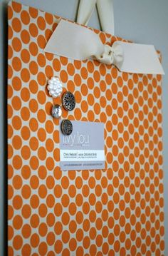 Fabric covered cookie sheet. Kind of what we were talking about earlier @Jacqueline Johnson