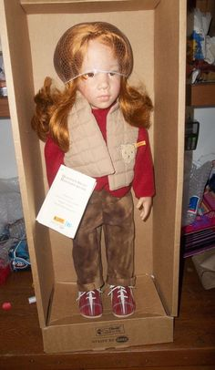 """Steiff 2003 GORGEOUS Gotz CHANTAL 23"""" Doll Never Removed From Box"""