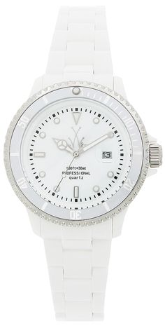 Toywatch Oversize Plasteramic watch: http://www.toywatchusa.com/product/283/Oversize-Plasteramic-White-Watch-Collection