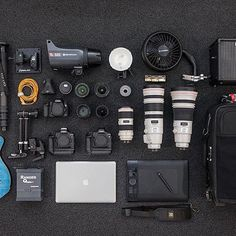 Inspiring Gear Collection by Pro Photographer, Author & Educator Scott Kelby. ☺️ Photo via @scottkelby : Here's a pic of my gear taken for the site @shotkit - a quick listing: Two Canon EOS 1Dxs, a 5D Mark III - 400mm f/2.8- 70-200mm f/2.8 - 16-35mm, 85mm f/1.2 - 200/400mm f/4 - 14mm - 1.4 tele-extender - Gitzo monopod - Elinchrom ELC 500 - Ranger Quadra - PRS Guitar - Wacom Intous Pro tablet. #gear #canon #canonphotography #canonlens #photographers #gearporn