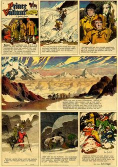 PRINCE VALIANT1951 Comic Book Artists, Comic Books, Royal Society Of Arts, Film Icon, Dennis The Menace, Online Drawing, Classic Comics, American Comics, Medieval Fantasy