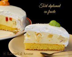 tort diplomat cu fructe Vanilla Cake, Mousse, Cheesecake, Goodies, Brunch, Yummy Food, Desserts, Christmas, Charlotte