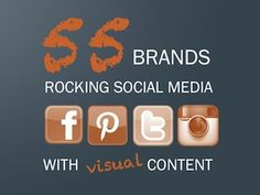 Learn how to use visual content to rock social media. Grab @HubSpot's free ebook: http://www.hubspot.com/55-brands-rocking-social-media-with-visual-content/