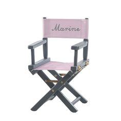 Fauteuil de metteur en scène pliant personnalisé  - 34,90 € http://www.mapetitechaise.com/chaise-metteur-en-scene/60-chaise-metteur-en-scene-chic-elegant-les-unis-rose-pale.html