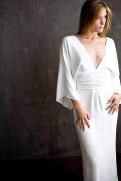 kimono sleeve wedding dress - Google Search