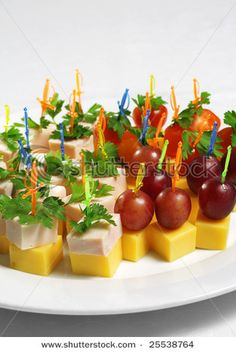 ...cute finger foods... Anything cheese!!!
