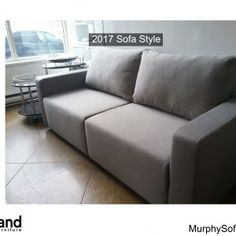 Our wall bed sofa at expand furniture is a great space saver. By combining your couch and your guest bed or personal bed, you add space to any room. Murphy Bed With Sofa, Murphy Bed Desk, Murphy Bed Plans, Twin Wall Bed, Bed Wall, Fabric Sofa, Cushions On Sofa, Expand Furniture, Folding Furniture