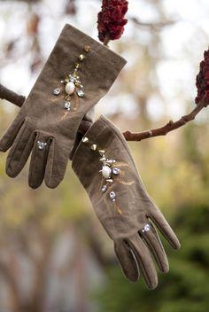 DIY embellished gloves