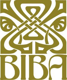 BIBA gold logo.  Used to love Biba in the 60s and owned a few pieces.