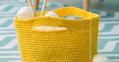 Crochet Afghans 96260 Discover all the explanations in this easy tutorial to make a crochet storage basket! Filet Crochet, Diy Crochet, Crochet Afghans, Crochet Tutorials, Crochet Storage, Wool Thread, Straw Bag, Knitting, Pattern