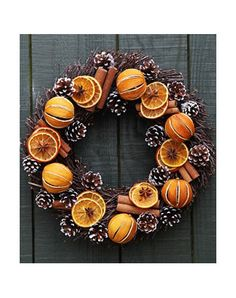 Deliver me a Christmas tree | T 01732 522471 | BCTGA Members | | Orange and White Pine Cone Wreath