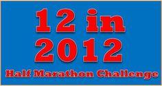 12 half marathons in 2012...maaaaybe