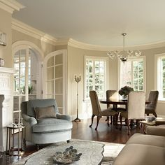 Well decorated rooms on pinterest luxury interior drapery and elegant living room for Benjamin moore clay beige living room