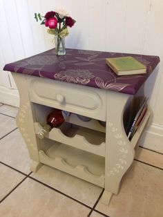 Merveilleux Magazine Rack, Side Table, Wine Rack. Painted In Annie Sloan Country Grey  With