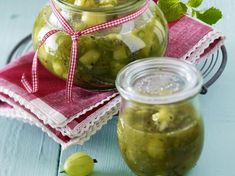 Kiwi-Stachelbeer-Chutney Rezept Kiwi, Curry Paste, Pickles, Cucumber, Chutneys, Pesto, Food, Desserts, Marmalade