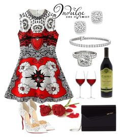 """""""Indulge, Life Is Sweet"""" by naviaux ❤ liked on Polyvore featuring Jimmy Choo, LSA International, Allurez, Christian Louboutin, Bloomingdale's, Blue Nile, women's clothing, women, female and woman"""