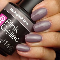 Pink Gellac #140 Asphalt Grey Soak-Off UV LED Gel Polish (15ml 0.5 fl... (83 BRL) ❤ liked on Polyvore featuring beauty products, nail care, nail polish, nails, shiny nail polish, gel nail polish, gel nail color and gel nail care