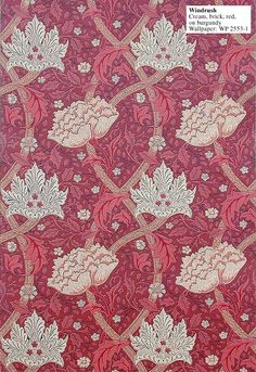 Historic Style - Windrush, by William Morris William Morris Wallpaper, Morris Wallpapers, Fabric Design, Pattern Design, Textile Design, John Everett Millais, Motifs Textiles, Chintz Fabric, Art And Craft Design
