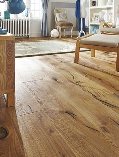 Love this distressed oak antique wooden floor. Learn how best to care for it, in our floor care guide.