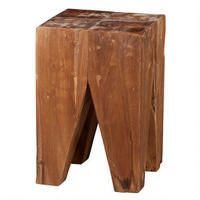 Dusty Teak Stool