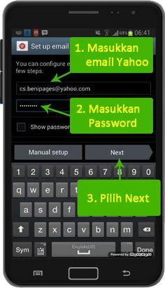 setup email yahoo di android