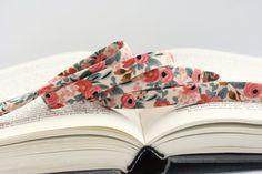 1/2 doppia piega nastro: Les Fleurs Rosa di BessiePearlTextiles
