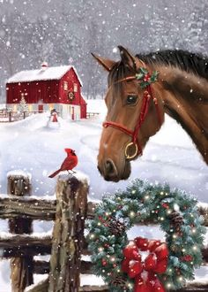 Decking The Halls - Merry Christmas/Happy Holiday You are in the right place about diy home decor Here we offer you the - Christmas Horses, Merry Christmas Pictures, Christmas Scenery, Christmas In Heaven, Merry Christmas Happy Holidays, Cowboy Christmas, Christmas Animals, Christmas Music, Country Christmas