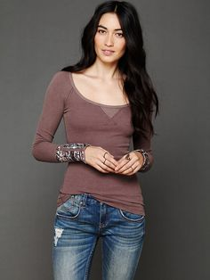 Free People Hippie Cuff Thermal, love this top!  Have it in red and black.