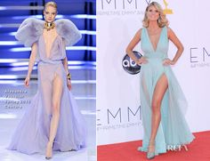 One of my favorites of the night, she looks AMAZING.  Heidi Klum in Alexandre Vauthier Couture - 2012 Emmy Awards