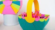 Aposte em cestinha de papel dobradura para encantar uma criança ou para presentear. Faça a peça com