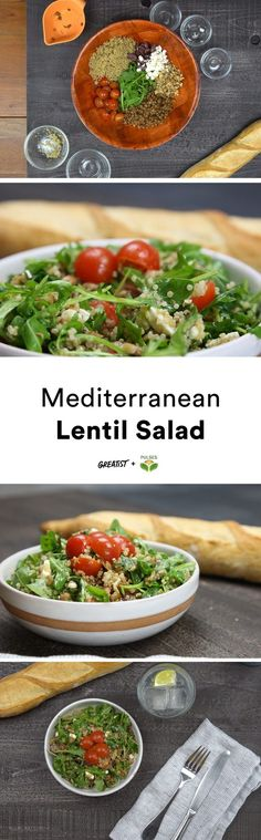One bite and you're in Greece. Sort of.  #greatist https://greatist.com/eat/mediterranean-lentil-salad-recipe