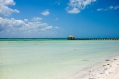 Punta Coco, Isla Holbox, Mexico - Rent a golf cart and head to the end of the island to a secluded beach called Punta Coco - it's stunningly beautiful. Pack a picnic and a few towels. A 4 hour rental costs 500 pesos, which is around $26 USD.