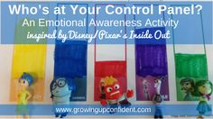 FUN PRINTABLE! Who's at your control panel? An Emotional Awareness Activity for kids based on Disney/ Pixar's movie, Inside Out.