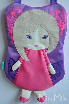 NinuMilu - torebki lalki - handbag dolls for girls: Koronka raz jeszcze