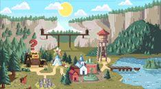 8 bit pixel forest scene - Google Search