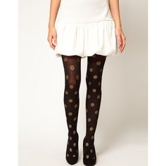 ASOS Opaque With Glitter Spot Tights ($9.33) found on Polyvore
