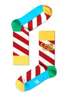Candy Crush Polka cool socks for both men & women at HappySocks.com