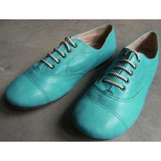 Chaussures souples à lacets Bleu céleste [Pépé]